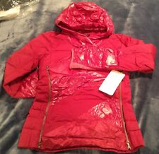 NWT LULULEMON DOWN RIGHT COZY PULLOVER ~ BRML Berry Rumble Red ~ Sz 4 ~ Puffy
