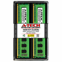 A-Tech 16GB 2x 8GB PC3-12800 Desktop DDR3 1600 MHz 240pin DIMM Memory RAM 16G 8G