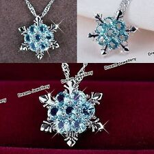 BLACK FRIDAY DEALS Christmas Snowflake Crystal Necklace Xmas Gifts for Her X1