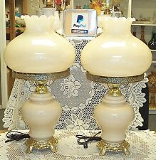 "Huge Almond Victorian Style 28"" Hurricane Lamp - GTC"