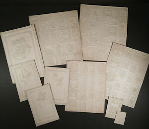 1920s Flapper Era BUCILLA EMBROIDERY KITS Printing Plate STEREOTYPE MOLDS FLONGS