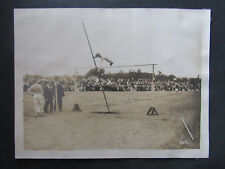 Original c 1915 Photograph High School Track Meet Pole Vault Petaluma California