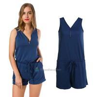 Women Ladies Clubwear V Neck Playsuit Bodycon Jumpsuit Romper Trouser Plus Size