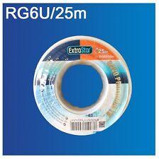 Cable Coaxial para Antena tv bobina 25m 50m 100m metros RG6U TDT SAT