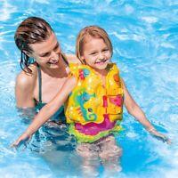 Swim Vest Child Size Tropical Buddies Inflatable Pool Vest Intex 59661 Seahorse