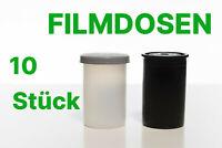 10x Filmdosen Plastikdose – Sortieren, Perlen, Schrauben, Geocaching / Schwarz