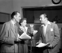 OLD CBS RADIO PHOTO Basil Rathbone In The Crime Drama Tales of Fatima 3