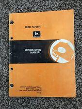 John Deere 482C Forklift Owner Operators Manual OMT157598