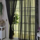 Colorful Sheer Curtain Panel Window Balcony Tulle Room Divider Valances New❃X