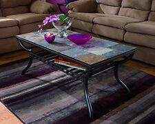 Ashley Furniture Signature Design - Antigo Coffee Table - Slate Top with Metal B