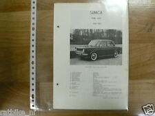 S05-SIMCA TYPE 1000 1961-1963 -TECHNICAL INFORMATION