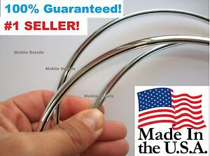 Protectors molding Trim CHROME DOOR EDGE GUARDS (fits) Fiat 500 , 124 Spider