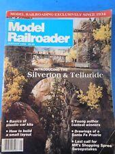 Model Railroader Magazine 1986 January Silverton & Telluride Basics plastic car