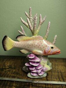 Royal Worcester #3572 Red Hind Porcelain Fish Figurine