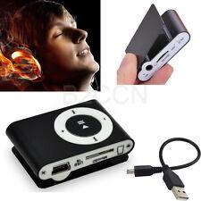 Black Metal Mini USB Clip MP3 Player Support 32GB Micro SD TF Card Music Media
