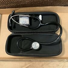 Professional Cardiology Stethoscope Black, With Zippered Case & Accessories   M1