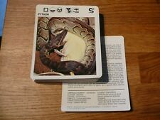 FICHE CARD ANIMAUX ANIMAL snake serpent python   REPTILE