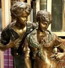 "Bronze um 1900, ""Das Ehepaar"", original Luca Madrassi,authentische Patina,selten"