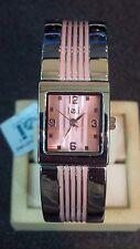 L.e.i. ladies bangle bracelet quartz watch pink NOS