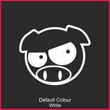 Subaru Pig Manga Calcomanía Angry ojos, Lindo, Divertido, etiqueta engomada, gráficos, coche, N2146