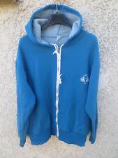 Veste à capuche années 80 sport vintage flamme olympique bleu ciel 174 M