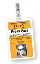 Hunter S. Thompson • Fake Press Pass • STYLE A • Halloween Costume Accessory