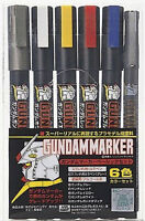 GUNDAM MARKER GMS105 Basic COLOR PEN SET 6pcs GUNZE GSI CREOS MR HOBBY NEW