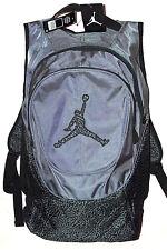 "NEW Nike Air Jordan 5"" Embroidered, Sewn Jumpman Laptop School Backpack Bag NWT"