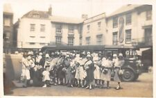 POSTCARD    SOCIAL  HISTORY    Women  and  Children  Outing   Coach