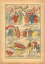 Caricature Salon de l'Auto Cars Grand Palais Paris France 1936 ILLUSTRATION