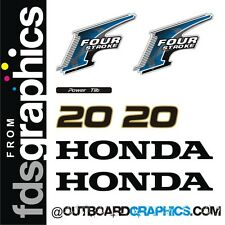 Honda 20hp 4 stroke outboard engine decals/sticker kit - other outputs available