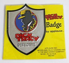 Vtg Nos Dick Tracy Detective Pin Badge Applause Walt Disney Warren Beatty Movie