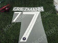 2018 World Cup France #7 GRIEZMANN Home Soccer Nameset Print Font Name set