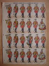 Image d'EPINAL  CHEVAUX-LEGERS DE LA GARDE DE LOUIS XVI   Planche numéro 38x