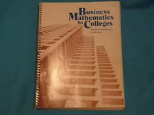 1983 BUSINESS MATHEMATICS FOR COLLEGES RICE MAYNE DEITZ SOUTHAM 8 EIGHT EDITION