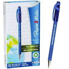 PaperMate Flexgrip Ultra Medium Pt 1.0mm Pens, Blue Ink, 9610131, Box of 12 Pens