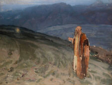 Moses and the Burning Bush    by Henry Ossawa Tanner  Giclee Canvas Print Repro