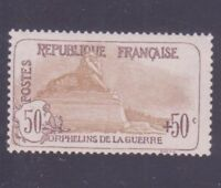 "FRANCE N°153 "" ORPHELINS 50c + 50c "" NEUF xx TB"