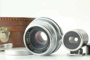 [EXC+5 Case] CANON 35mm F2.8 L39 LTM Leica Thread Mount LENS + 35mm Finder JAPAN