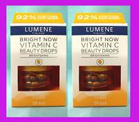 Lot /2 Lumene Finland Bright Now BEAUTY DROPS Vitamin C Anti-Aging Skincare 56pc
