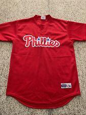 Philadelphia Phillies MLB Batting Practice Jersey Vintage Youth Size L Majestic