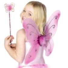 Déguisement Enfant Filles Aile Papillon & Jeu de Baguette Rose