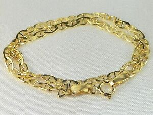 """14k Yellow Gold Gucci Mariner Link Style Chain 8"""" Fine Bracelet"""