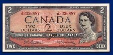 1954 CANADA Canadian two 2 DOLLAR BILL NOTE prefix X/R crisp high AU-UNC