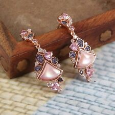 925 Sterling Silver Earrings Light weight Latest Design set in CZ free shipping