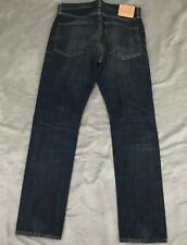 """LEVI Men's """"Vintage Clothing"""" Big E Selvedge 505-0217 Jeans Sz 36 x 34"""