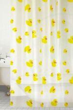 FUNKY KIDS PEVA POLYESTER DUCK DESIGN WATERPROOF SHOWER BATH CURTAIN 180 x 180cm