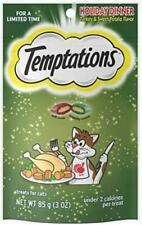 Temptations Classic, Crunchy and Soft Cat Treats, Holiday Dinner Turkey and Swee