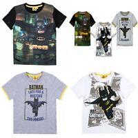 Boys Kids Children Lego Batman Short Sleeve Tee T Shirt Top age 3-10 years