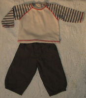 Baby Boy's Mothercare Cargo Pants & TU Long Sleeve Top Size 9-12 Months